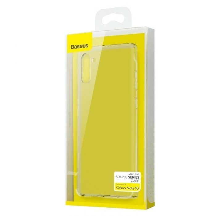 baseus simple series (anti-fall) kryt for note 10 transparent - baseus 6953156210950 6