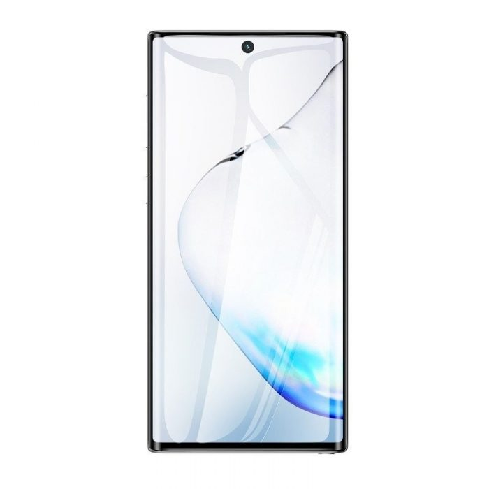 baseus 0.15mm full-screen curved anti-explosion soft screen protector for note 10 black - baseus 6953156210974 5