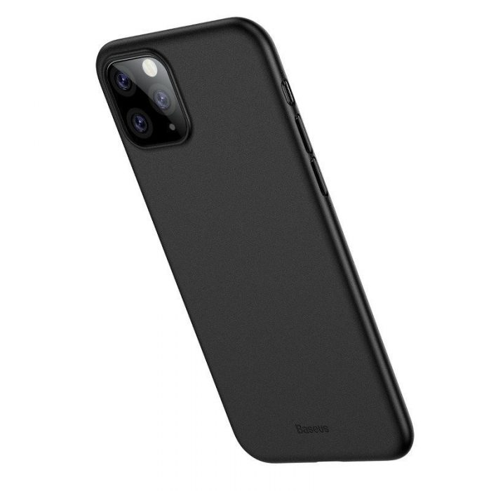 baseus wing case for iphone 11 pro 5.8inch (2019) solid black - baseus 6953156211117 1
