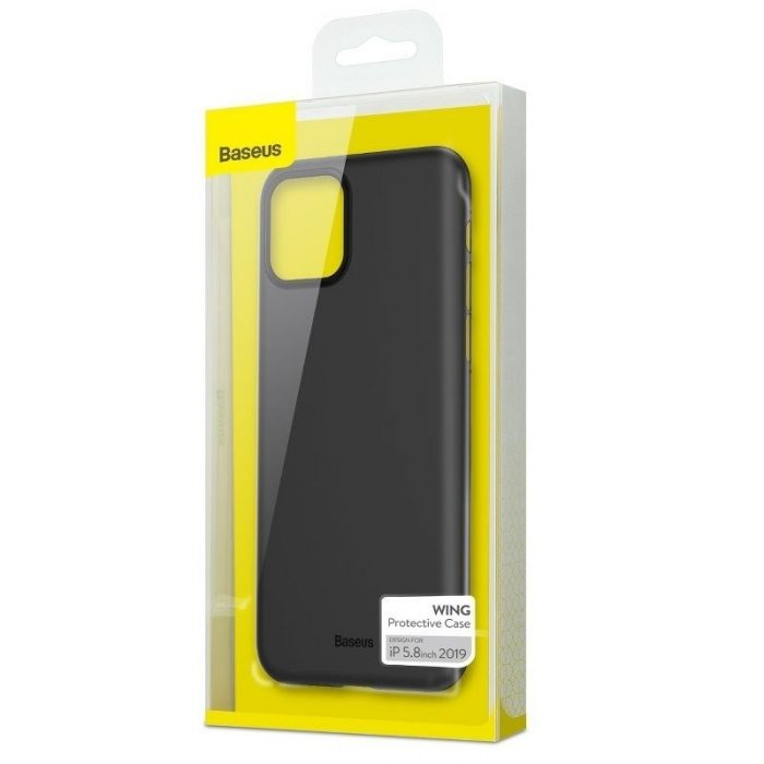 baseus wing case for iphone 11 pro 5.8inch (2019) solid black - baseus 6953156211117 7
