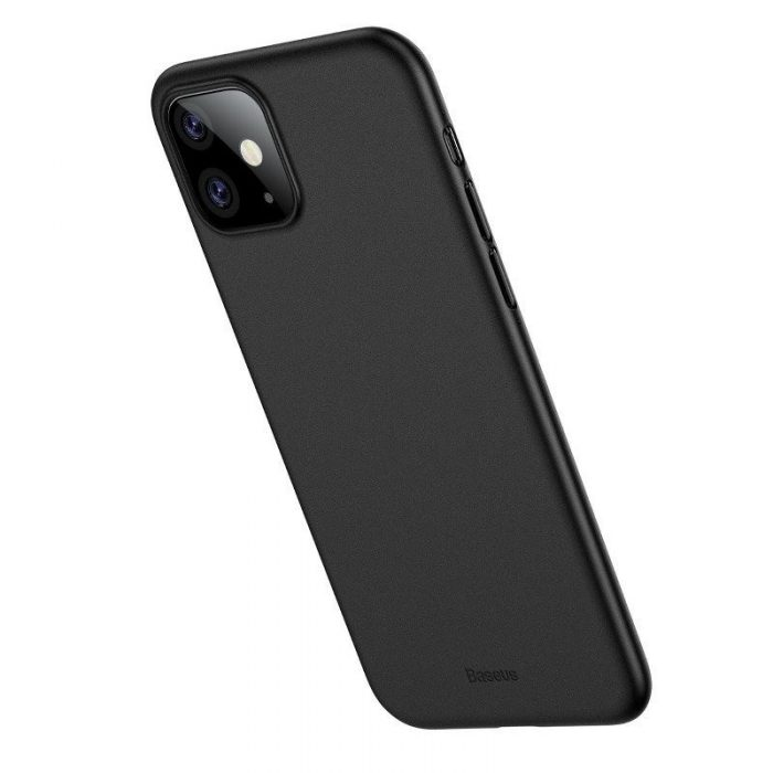 baseus wing case for iphone 11 6.1inch (2019) solid black - baseus 6953156211148 2