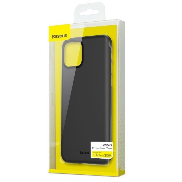 baseus wing case for iphone 11 6.1inch (2019) solid black - baseus 6953156211148 6