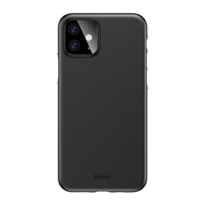 baseus wing case for iphone 11 6.1inch (2019) solid black - baseus 6953156211148