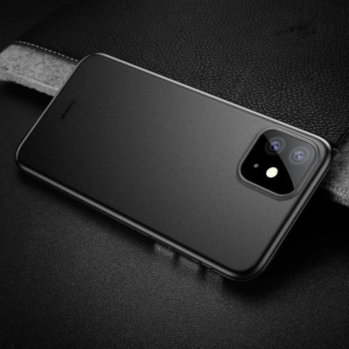 baseus wing case for iphone 11 6.1inch (2019) solid black - baseus 6953156211148 8