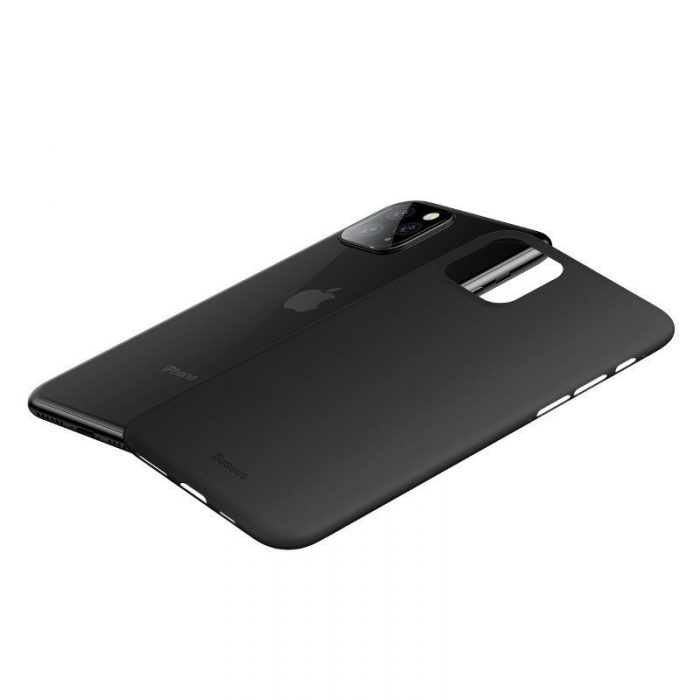 baseus wing case for iphone 11 pro 6.5inch (2019) solid black - baseus 6953156211179 1