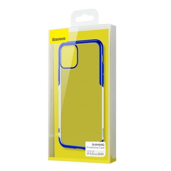 baseus shining case apple iphone 11 pro max 6.5 blue - baseus 6953156211384 5