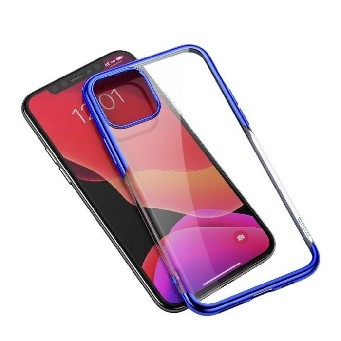 baseus shining case apple iphone 11 pro max 6.5 blue - baseus 6953156211384
