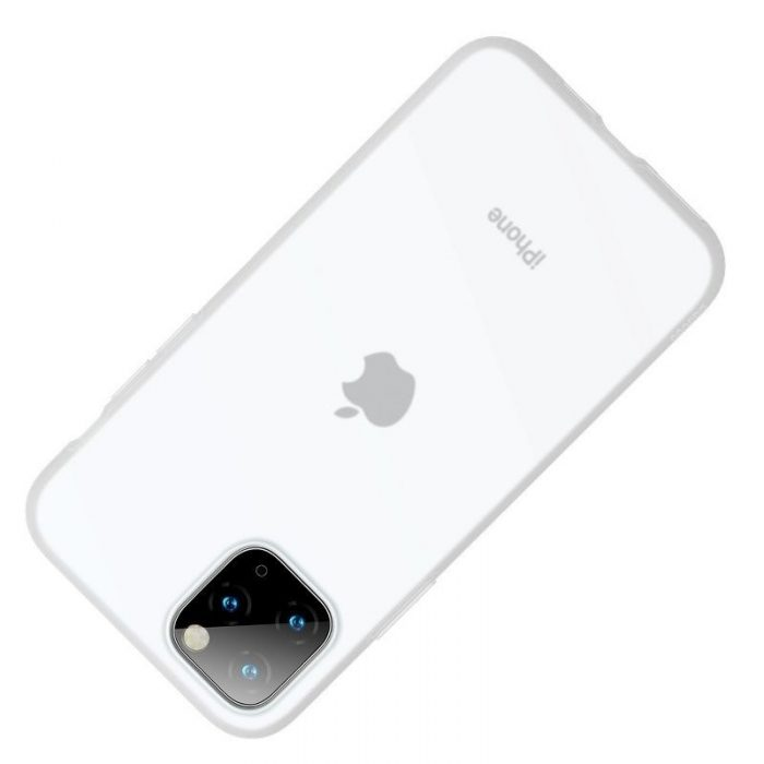 baseus jelly liquid silica gel protective case for iphone 11 pro 5.8inch transparent white - baseus 6953156211643 2