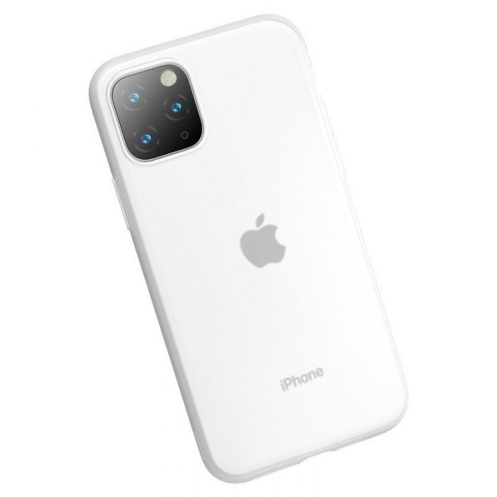 baseus jelly liquid silica gel protective case for iphone 11 pro 5.8inch transparent white - baseus 6953156211643 4