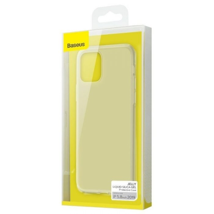 baseus jelly liquid silica gel protective case for iphone 11 pro 5.8inch transparent white - baseus 6953156211643 5