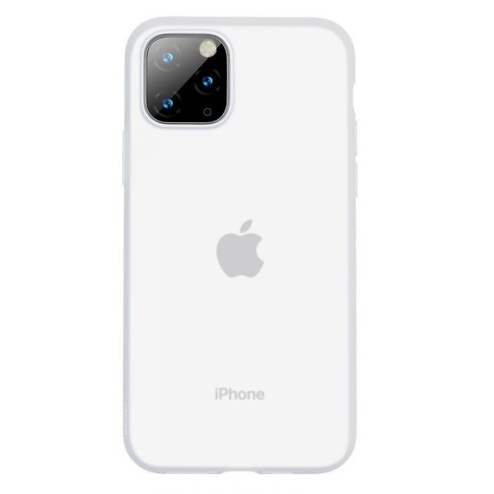 baseus jelly liquid silica gel protective case for iphone 11 pro 5.8inch transparent white - baseus 6953156211643