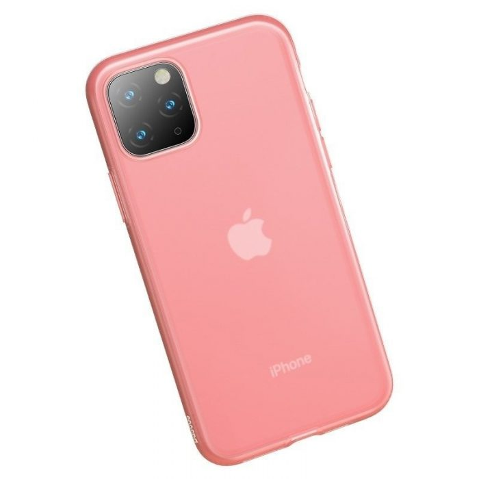 baseus jelly liquid silica gel protective kryt for iphone 11 pro 5.8inch transparent red - baseus 6953156211650 4