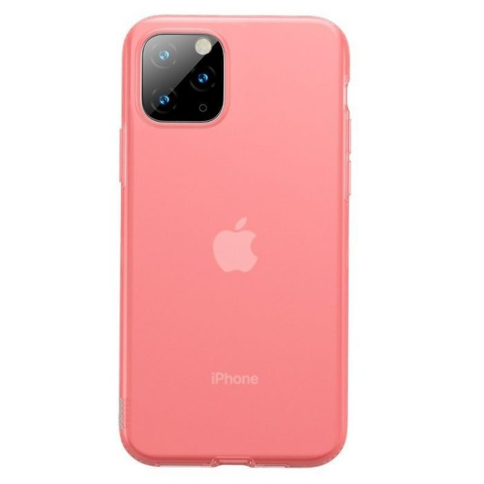 baseus jelly liquid silica gel protective kryt for iphone 11 pro 5.8inch transparent red - baseus 6953156211650