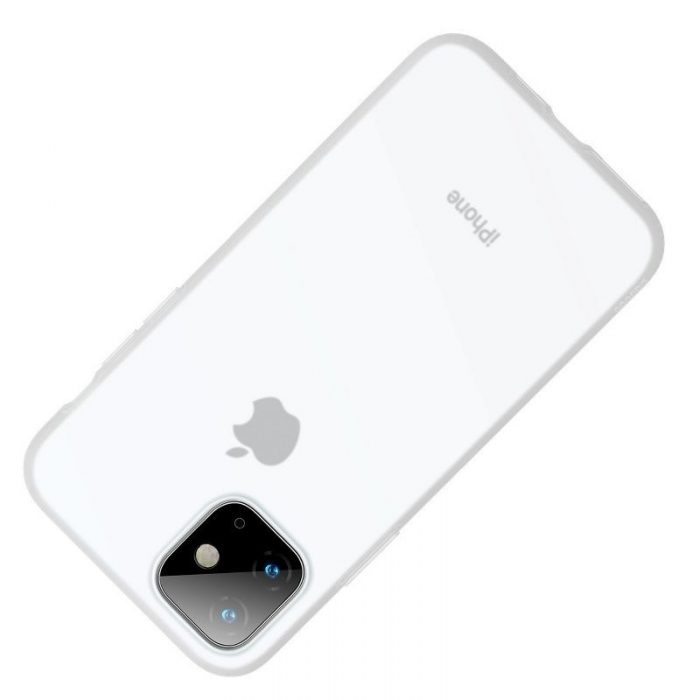 baseus jelly liquid silica gel protective case for iphone 11 6.1inch transparent white - baseus 6953156211674 2