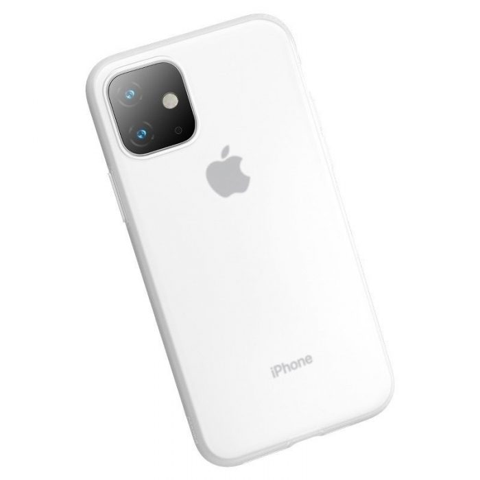 baseus jelly liquid silica gel protective case for iphone 11 6.1inch transparent white - baseus 6953156211674 4