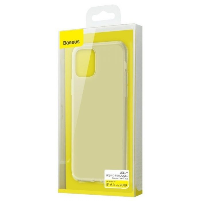 baseus jelly liquid silica gel protective case for iphone 11 6.1inch transparent white - baseus 6953156211674 5