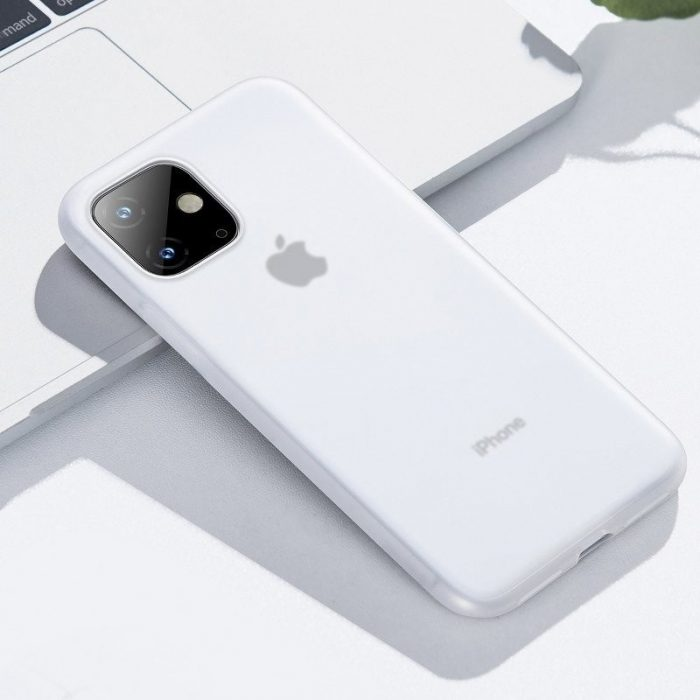 baseus jelly liquid silica gel protective case for iphone 11 6.1inch transparent white - baseus 6953156211674 7