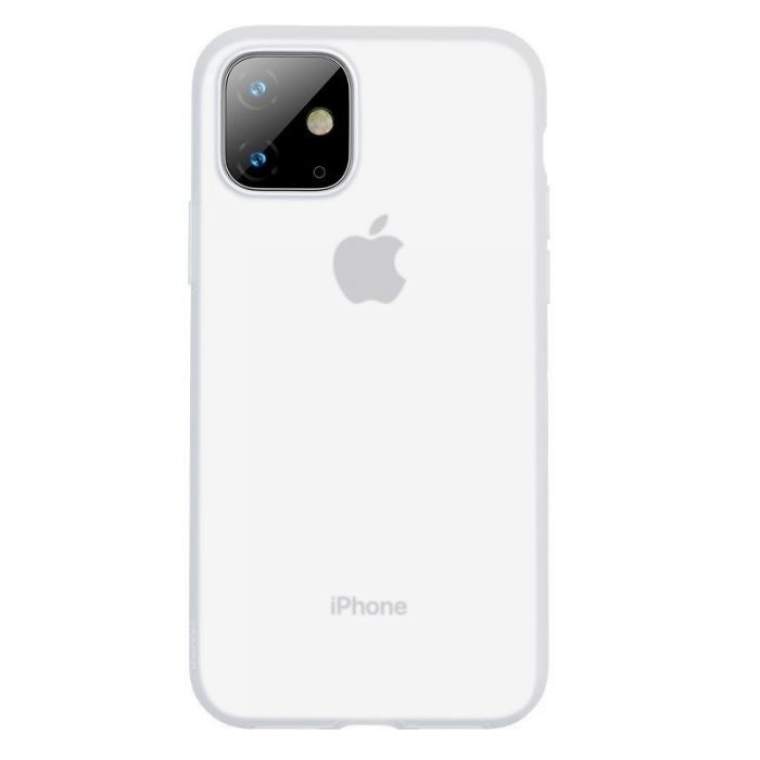 baseus jelly liquid silica gel protective case for iphone 11 6.1inch transparent white - baseus 6953156211674