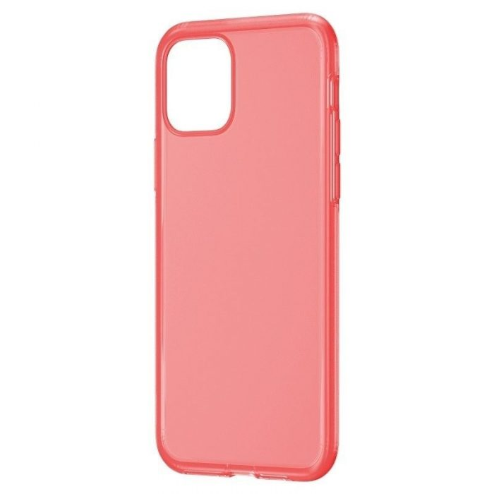 baseus jelly liquid silica gel protective case for iphone 11 6.1inch transparent red - baseus 6953156211681 1