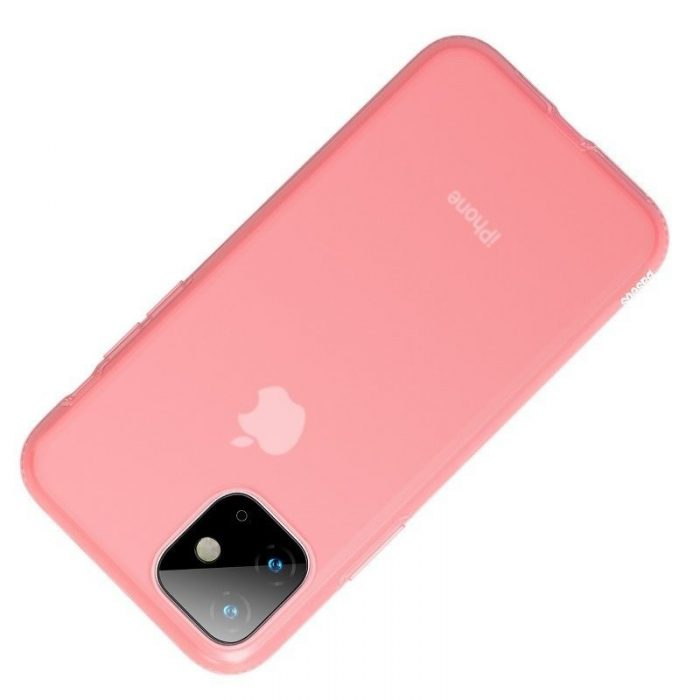 baseus jelly liquid silica gel protective case for iphone 11 6.1inch transparent red - baseus 6953156211681 2