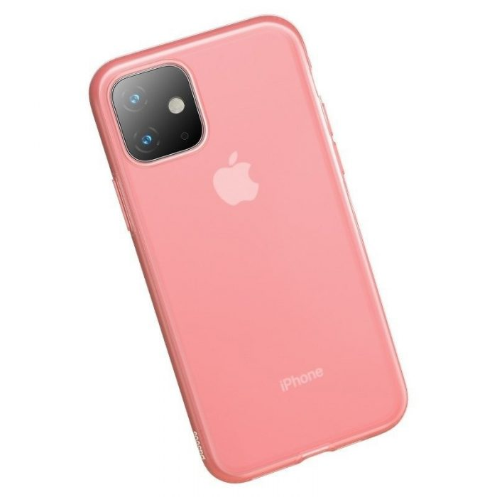 baseus jelly liquid silica gel protective case for iphone 11 6.1inch transparent red - baseus 6953156211681 3
