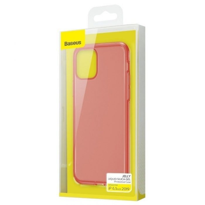 baseus jelly liquid silica gel protective case for iphone 11 6.1inch transparent red - baseus 6953156211681 5