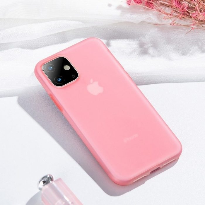 baseus jelly liquid silica gel protective case for iphone 11 6.1inch transparent red - baseus 6953156211681 7