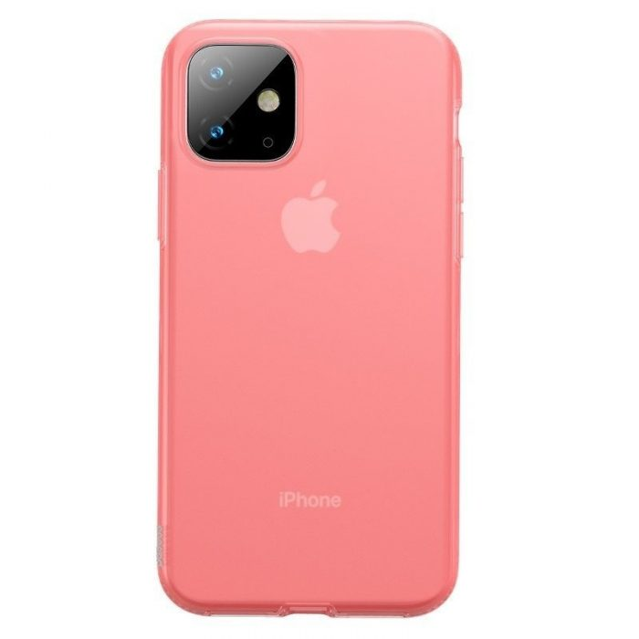 baseus jelly liquid silica gel protective case for iphone 11 6.1inch transparent red - baseus 6953156211681