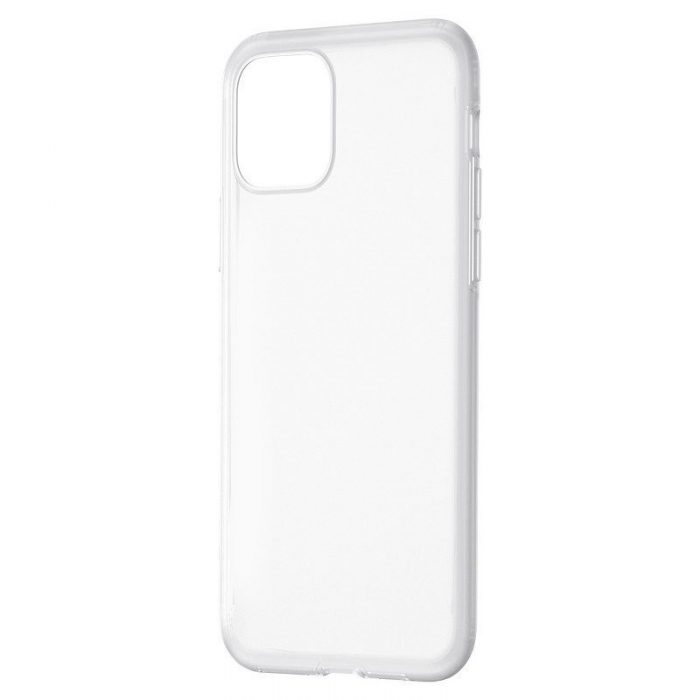 baseus jelly liquid silica gel protective case for iphone 11 pro 6.5inch transparent white - baseus 6953156211704 1