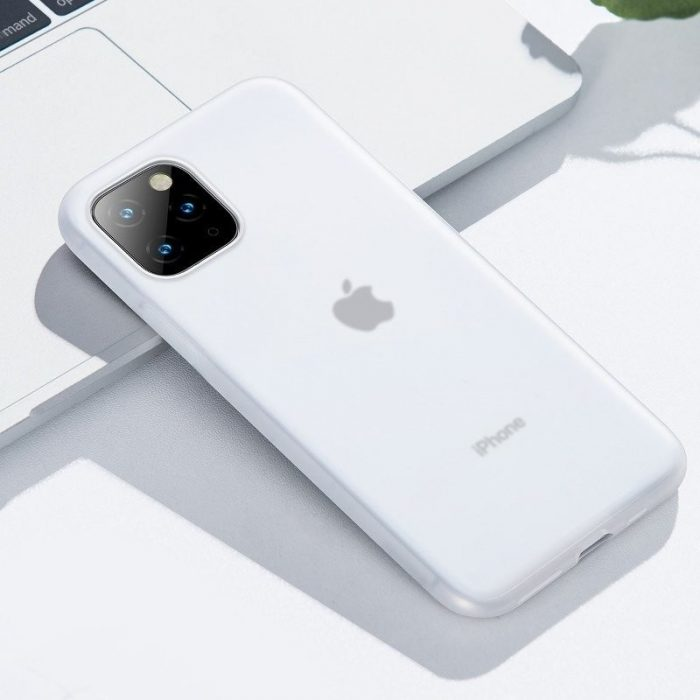baseus jelly liquid silica gel protective case for iphone 11 pro 6.5inch transparent white - baseus 6953156211704 6