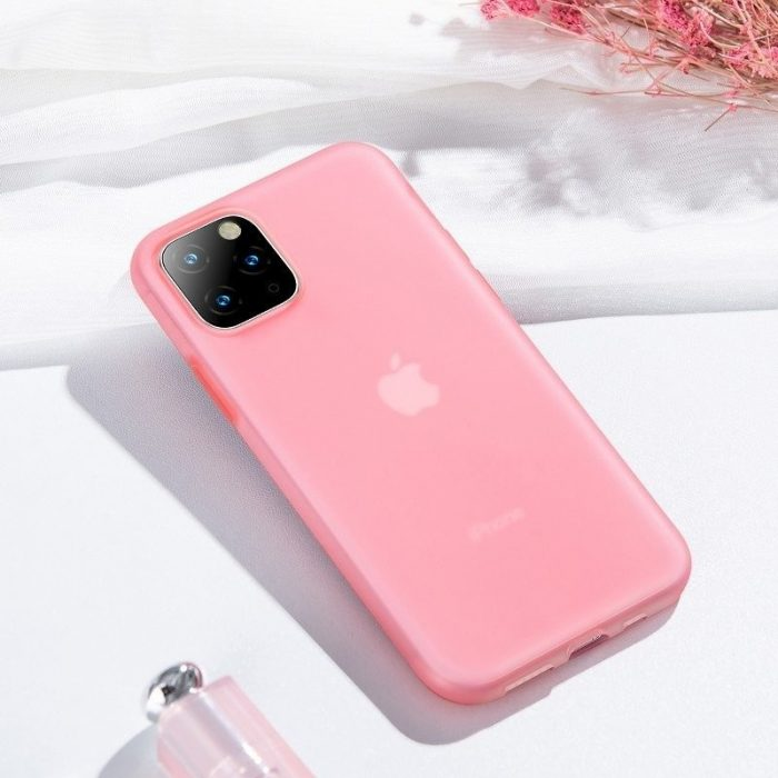 baseus jelly liquid silica gel protective case for iphone 11 pro 6.5inch transparent red - baseus 6953156211711 7