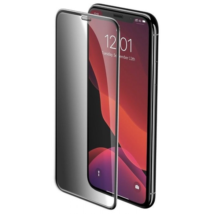 baseus full-screen curved privacy tempered glass film (cellular dust prevention) (2pcspack+pasting artifact) for ip xs max/11 pr - baseus 6953156211728 1