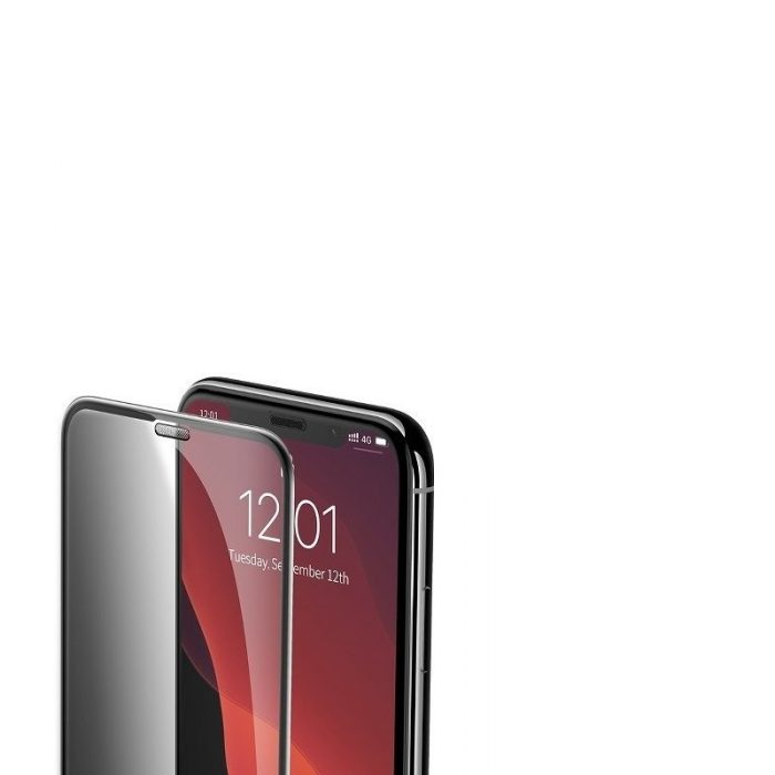 baseus full-screen curved privacy tempered glass film (cellular dust prevention) (2pcspack+pasting artifact) for ip xs max/11 pr - baseus 6953156211728 5