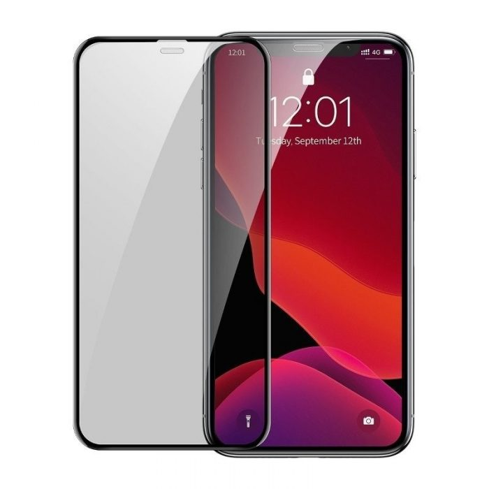 baseus full-screen curved privacy tempered glass film (cellular dust prevention) (2pcspack+pasting artifact) for ip xs max/11 pr - baseus 6953156211728