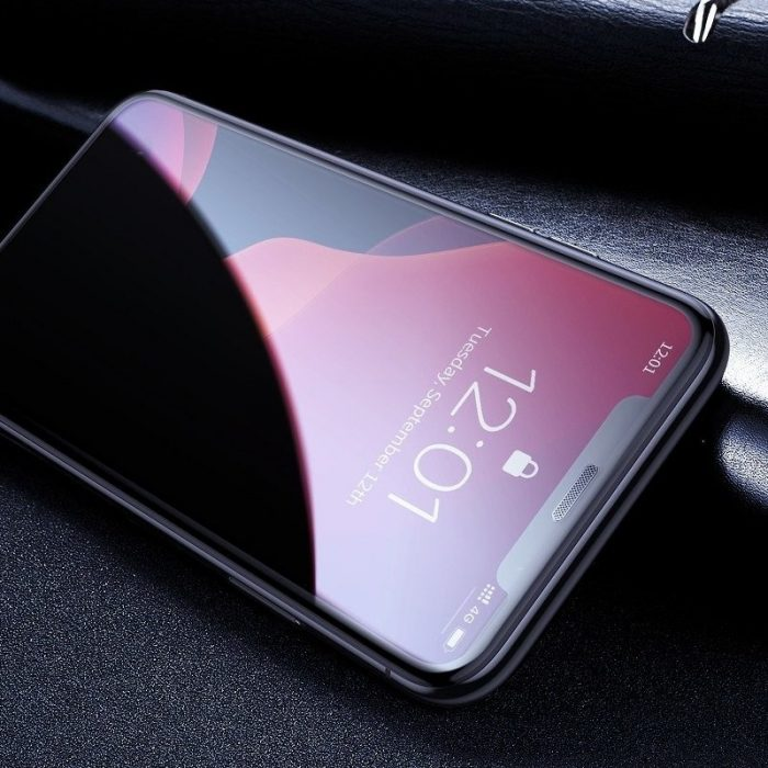 baseus full-screen curved privacy tempered glass for ip xs max/11 pro max 6.5inch (2pcs) - baseus 6953156211742 5