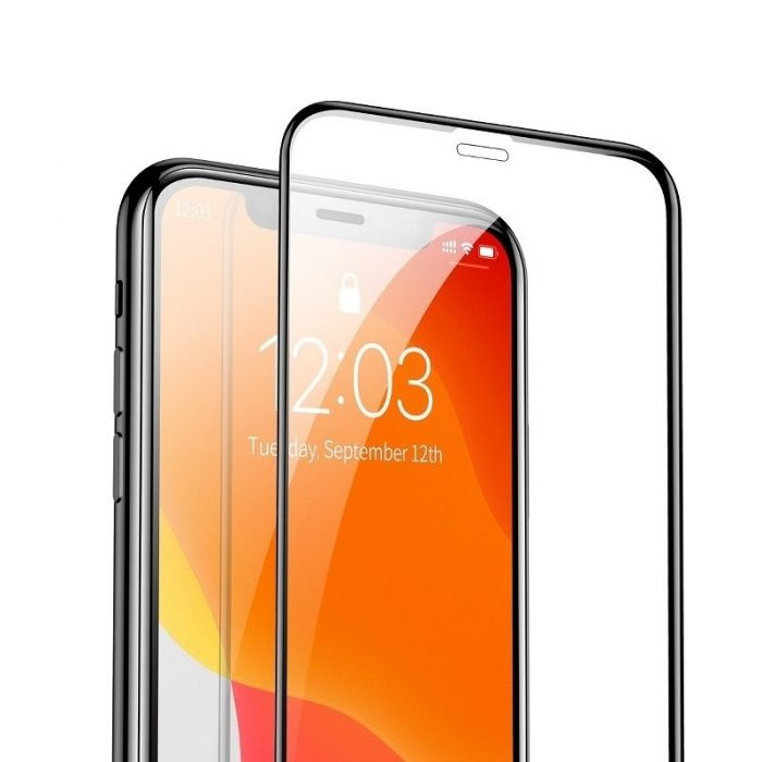 baseus 0.3mm full-screen and full-glass tempered glass (2pcs pack) for iphone 11 6.1 inch - baseus 6953156211773 2