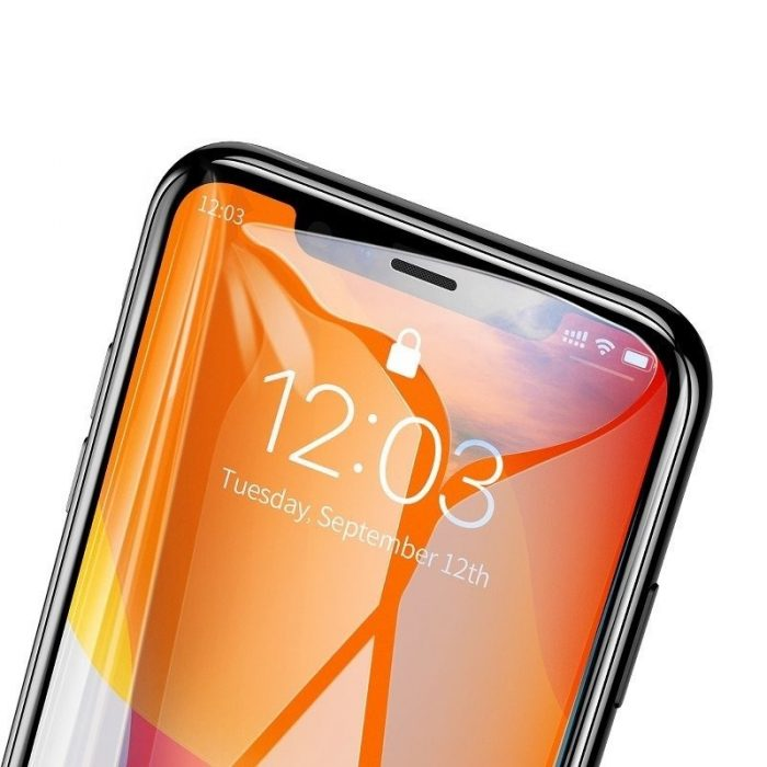 baseus 0.3mm full-screen and full-glass tempered glass (2pcs pack) for iphone 11 6.1 inch - baseus 6953156211773 3