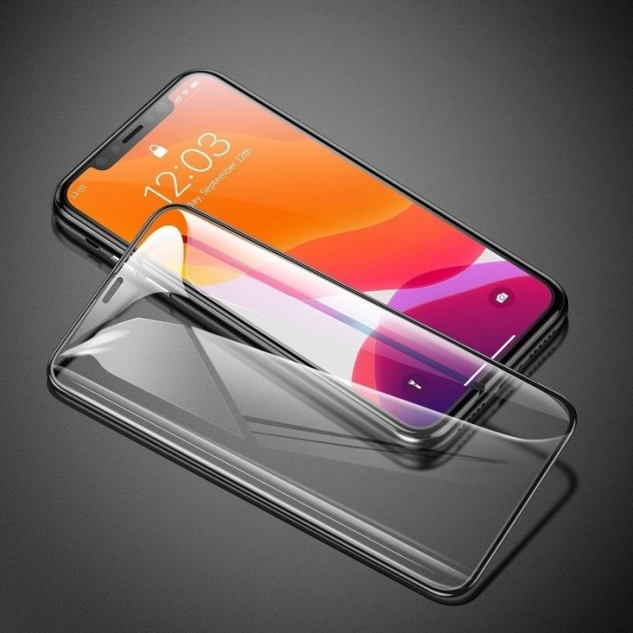 baseus 0.3mm full-screen and full-glass tempered glass (2pcs pack) for iphone 11 6.1 inch - baseus 6953156211773 5