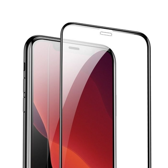 baseus 0.3mm full-screen and full-glass tempered glass (2pcs pack) for iphone 11 pro 6.5 inch - baseus 6953156211797 2