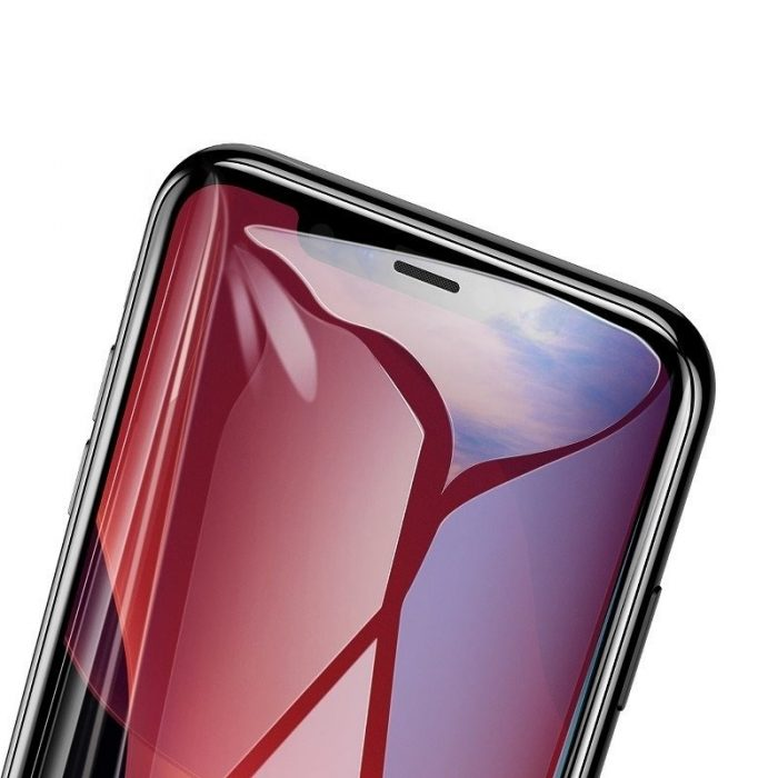baseus 0.3mm full-screen and full-glass tempered glass (2pcs pack) for iphone 11 pro 6.5 inch - baseus 6953156211797 3