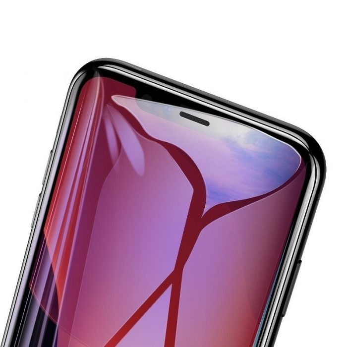 baseus 0.3mm full-screen and full-glass with anti-blue light tempered glass film(2pcspack+pasting artifact) for ip xs max/11 pro - baseus 6953156211803 2