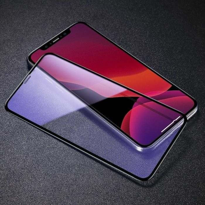 baseus 0.3mm full-screen and full-glass with anti-blue light tempered glass film(2pcspack+pasting artifact) for ip xs max/11 pro - baseus 6953156211803 4