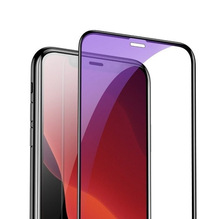 baseus 0.3mm full-screen and full-glass with anti-blue light tempered glass film(2pcspack+pasting artifact) for ip xs max/11 pro - baseus 6953156211803 6