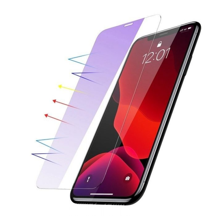 baseus 0.15mm full-glass tempered glass film anti-bluelight (2pcs pack) for iphone 11 pro 5,8 inch - baseus 6953156211827