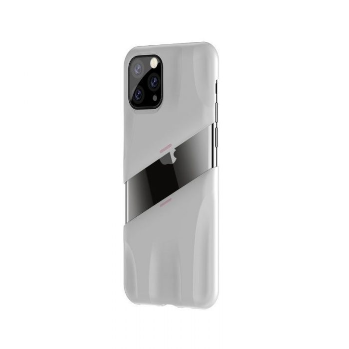 baseus let's go airflow coolinggame protective case for apple iphone 11 pro white&pink - baseus 6953156211933 2