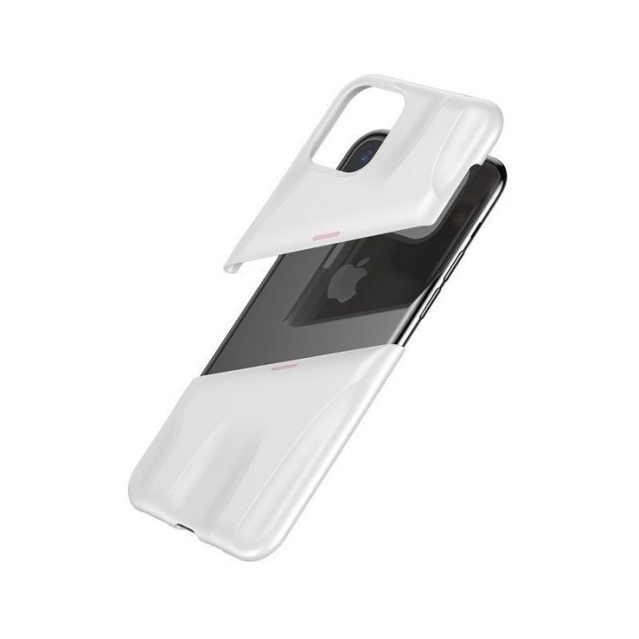 baseus let's go airflow coolinggame protective case for apple iphone 11 pro white&pink - baseus 6953156211933 4
