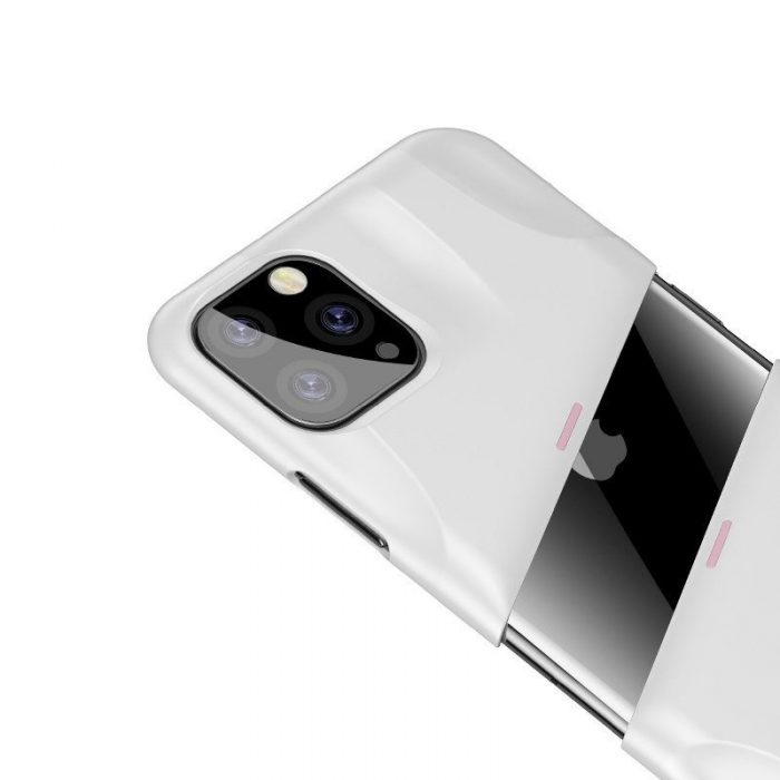 baseus let's go airflow coolinggame protective case for apple iphone 11 pro white&pink - baseus 6953156211933 5
