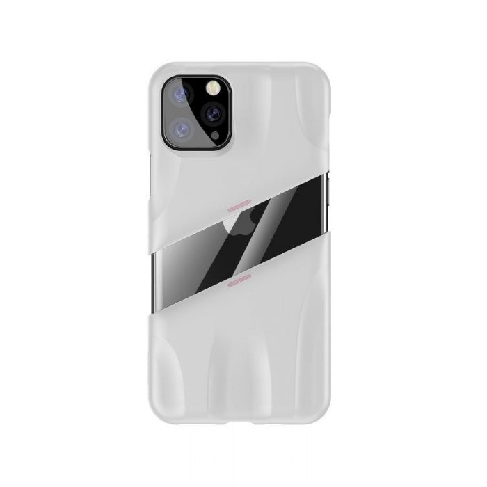 baseus let's go airflow coolinggame protective case for apple iphone 11 pro white&pink - baseus 6953156211933