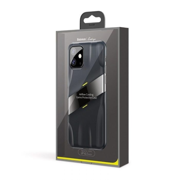 baseus let's go airflow coolinggame protective kryt for ip11 6.1inch (2019) grey&yellow - baseus 6953156211940 6