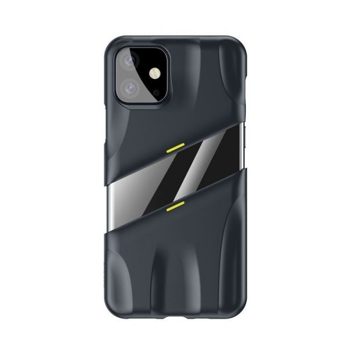baseus let's go airflow coolinggame protective kryt for ip11 6.1inch (2019) grey&yellow - baseus 6953156211940